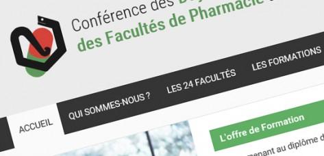 Aperçu site Conférence des doyens des facultés de pharmacie de France