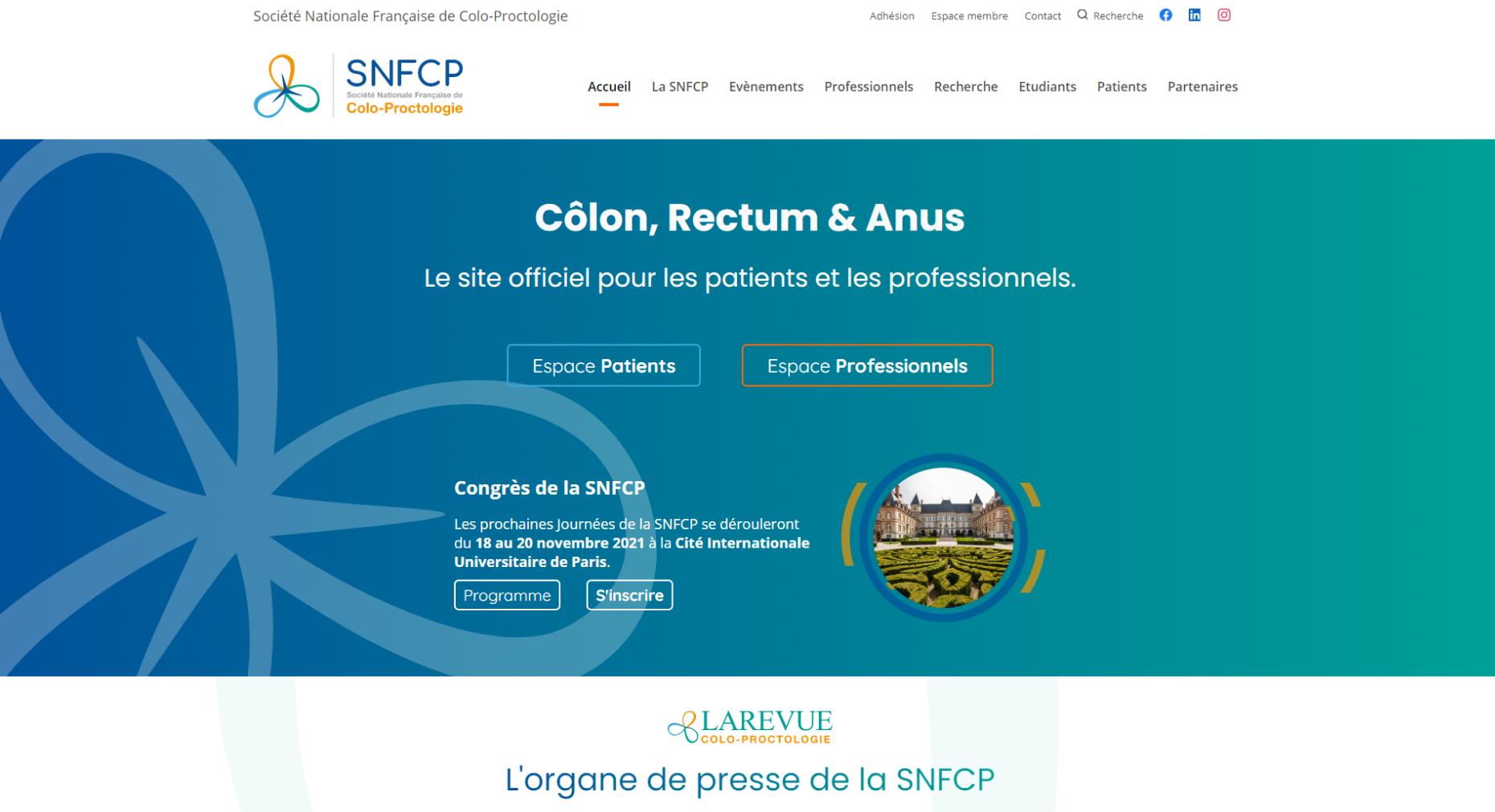 SNFCP – Accueil