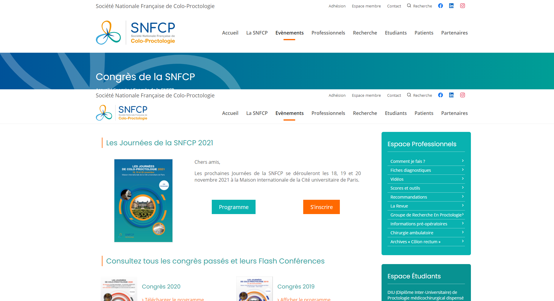 SNFCP – Congrès